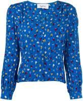 BA&SH slim-fit floral blouse