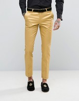 Noose & Monkey Super Skinny Suit Trousers In Metallic