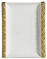 Gourmet Dining Katy Briscoe Home Bangles 24K Gold-Trimmed Bone China Tray
