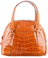 Valextra Alligator Shoulder Bag