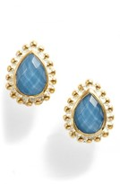 Anna Beck Women's Blue Quartz Teardrop Stud Earrings