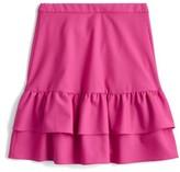 J.Crew Women's Wool Flannel Ruffle Skirt