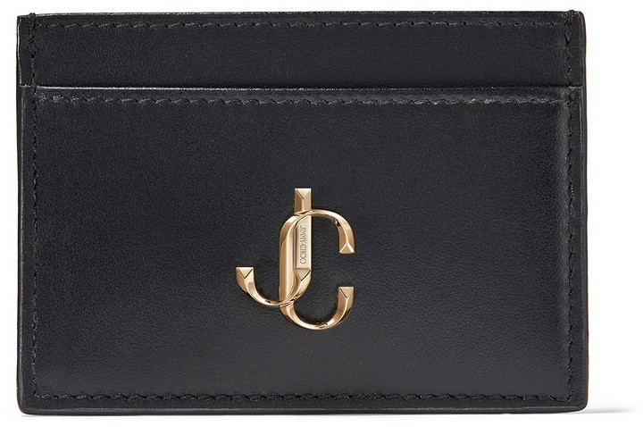 Jimmy Choo UMIKA Black Calf Leather Card Holder