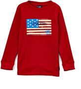 U.S. Polo Assn. Cinnamon Flag Graphic Long-Sleeve Crewneck Top - Toddler & Boys
