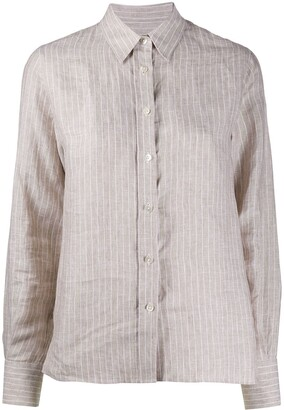 Eleventy Striped Linen Shirt