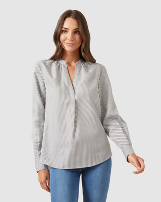French Connection Stripe Popover Shirt