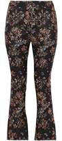 IRO Cropped Floral-Jacquard Flared Pants