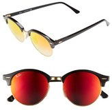 Ray-Ban Men's 'Clubround' 51Mm Sunglasses - Black/ Red