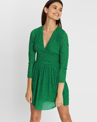 French Connection Tabia Printed V-Neck Dress