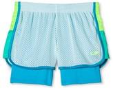 Champion Girls' 2 in 1 Mesh Shorts Ice Fall Blue