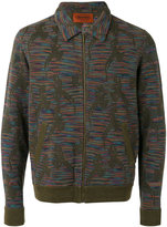 Missoni knit bomber jacket - men - Cotton/Linen/Flax - 48