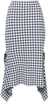Rosetta Getty asymmetric checked skirt - women - Cotton/Viscose - 4