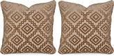 Miles Talbott Collection S/2 Drake Sable 20x20 Pillows, Tan