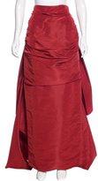 Rosie Assoulin Silk Draped Skirt w/ Tags