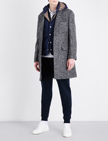 Brunello Cucinelli Houndstooth-patterned alpaca and wool-blend coat