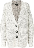 Isabel Marant chunky knitted cardigan - women - Polyester/Wool/Alpaca - 34