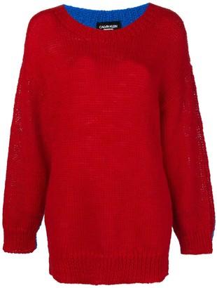 Calvin Klein oversized colour-block sweater