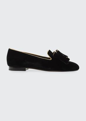 Alexandre Birman Grace Bow Flat Slipper Loafers