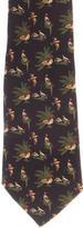 Salvatore Ferragamo Silk Birds Print Tie