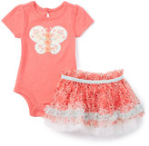 Baby Starters Coral Butterfly Bodysuit & Tutu Skirt - Infant