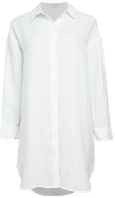 James Perse High-Low Linen Shirtdress