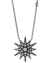 SHAY Blackened Diamond Starburst Necklace