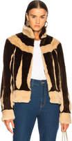 ATTICO Sara Short Faux Fur Jacket
