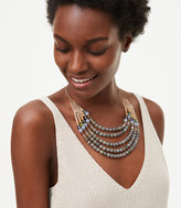 LOFT Smoky Multistrand Beaded Necklace