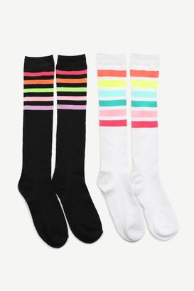 Ardene Pack of Neon Striped Knee-High Socks