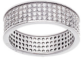 Bliss Sterling Silver Pavé-Set Ring With Swarovski® Crystals