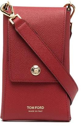 Tom Ford Logo-Embossed Envelope Phone Wallet