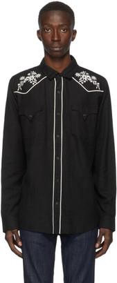 Double Rainbouu Black Western Shirt