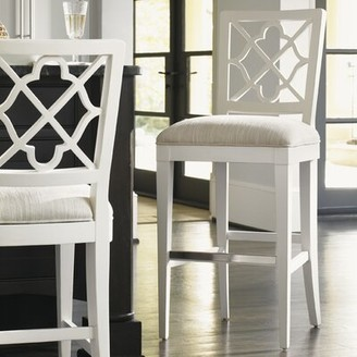 "Tommy Bahama Ivory Key Bar & Counter Stool Home Seat Height: Bar Stool (30"" Seat Height), Color: Gray"