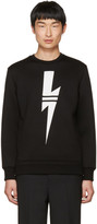Neil Barrett Black Sport Thunderbolt Sweatshirt