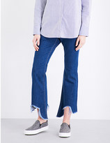 Mo&Co. Stepped-hem cropped mid-rise jeans