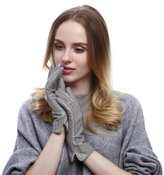 Queenfur Women Driving Gloves - Real Leather Soft Lambskin Fashion Lady Winter Glove