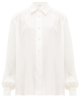 Ryan Roche - Faux-pearl Buttoned Silk Blouse - White