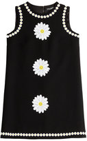 Dolce & Gabbana Wool Dress with Daisy Applique