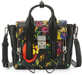3.1 Phillip Lim Pashli Mini Floral Leather Satchel Bag, Black/Multi