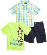 Nannette 3-Pc. Graphic-Print T-Shirt, Shirt & Shorts Set, Baby Boys (0-24 months)
