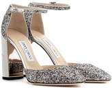 Jimmy Choo Mabel 95 glittered-leather pumps