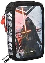 Star Wars Episode VII - Multi-use Case / Pencil Case, Triple pocket, Black and Red, 41 Pieces