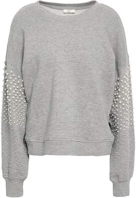Joie Faux Pearl-embellished French Cotton-blend Terry Sweatshirt
