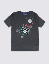 Marks and Spencer Cotton Blend Short Sleeve Top (3-14 Years)