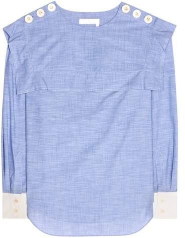 Chloé Cotton chambray top