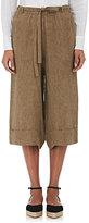 Masscob Women's Linen Wide-Leg Crop Pants