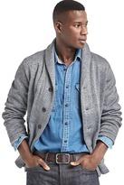 Gap Herringbone shawl collar cardigan