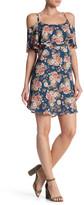Bobeau Floral Cold Shoulder Dress