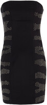 Thumbnail for your product : Pierre Balmain Strapless Crystal-embellished Stretch-silk Crepe Mini Dress
