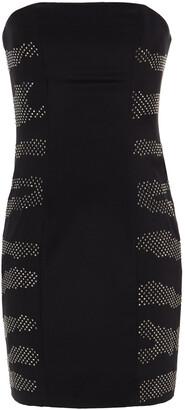 Pierre Balmain Strapless Crystal-embellished Stretch-silk Crepe Mini Dress